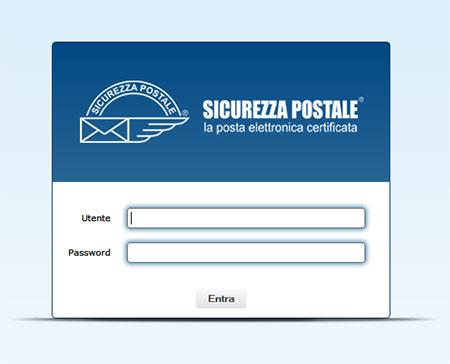 Schermata login di accesso alla Webmail